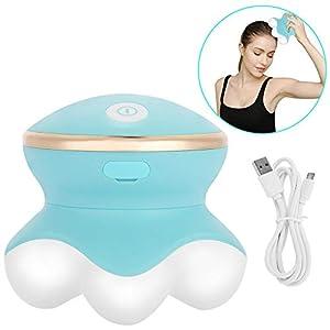 Mini-Elektro-Vibrations-Massagegerät, Portable Cordless Wiederaufladbare Tissue Percussion Massage-Tool für Muskeln, Rücken, Fuß, Bein, Kalb, Hand, Hals, Schulter, Ganzkörper-Schmerzlinderung
