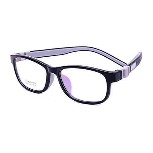 Juleya Kinder Gläser Rahmen - Silikon - Professionel Kinder Brillen Clear Lens Retro Reading Eyewear für Mädchen Jungen - 180710ETYJJ04