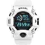 Adisaer Analog Uhr Herren Wasserdicht Digitale Uhr Herrenuhr Weiß Outdoor Sportuhr Armbanduhr Automatikuhr