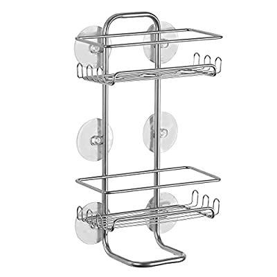 InterDesign Classico Suction Jumbo Showerl Shelves