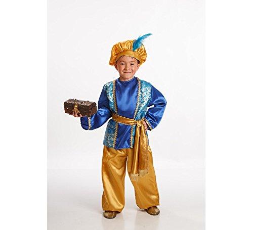 Imagen de disfraz de paje azul para niño en varias tallas