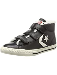 Converse Unisex-Kinder Star Player Ev 3v Mid Black/Egret Hohe Sneaker