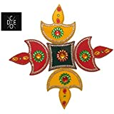 Code Rangoli Specially For Home Decoration In Diwali Festival, In Diya Shape, In Acrylic Material