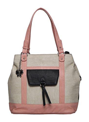 Butterflies Women Hand Bag (Peach) (BNS 0625PCH)