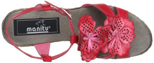 Manitu 910474, Sandales femme Rouge (Rot)