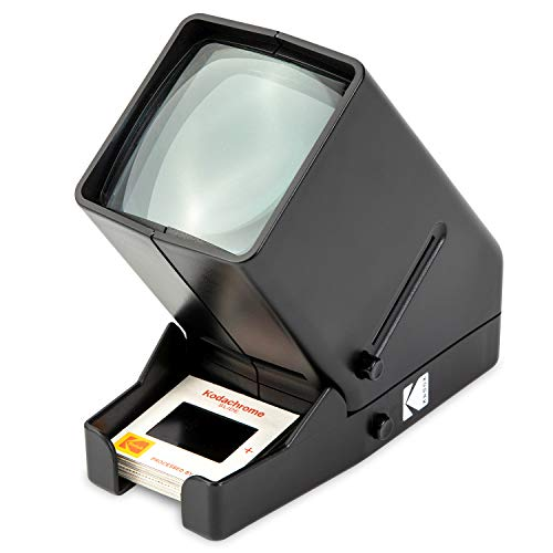 KODAK 35-mm-Diaprojektor und Filmbetrachtungsgerät - Batteriebetrieb, 3-fache Vergrößerung, LED-beleuchtete Anzeige - für 35-mm-Dias und Filmnegative