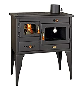 Wood Burning Cooking Stove Cast Iron Top Oven Cooker Solid Fuel Log Burner 10kw