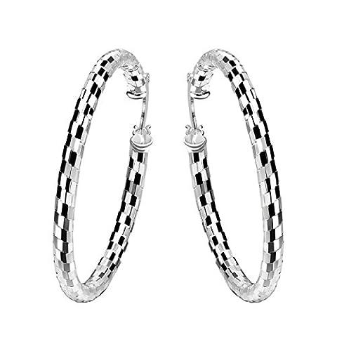 ZPXLGW Mode Heller Kreis Große Ohren,Silver-L