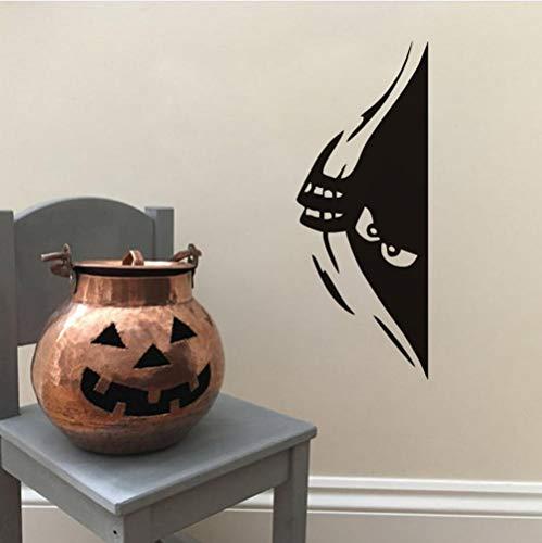 Sneaky Peeking Monster Halloween Party Decals Moderne Wandaufkleber Für Kinder Wohnzimmer Wohnkultur Wasserdicht Zubehör Tapete 62x21 cm (Eine Spiele Gute Teenager-halloween-party Für)