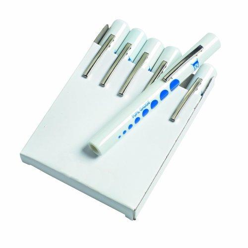 Timesco - Einweg Leuchtstift mit Pupillen Messer - 6 Stück