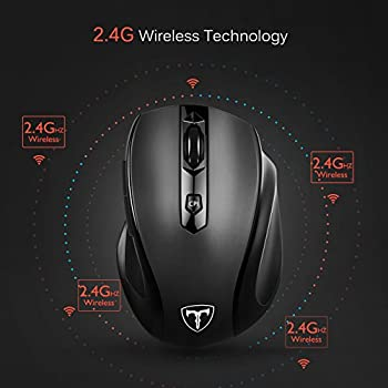 Victsing Mini Schnurlos Maus Wireless Mouse 2.4g 2400 Dpi 6 Tasten Optische Mäuse Mit Usb Nano Empfänger Für Pc Laptop Imac Macbook Microsoft Pro, Office Home 1