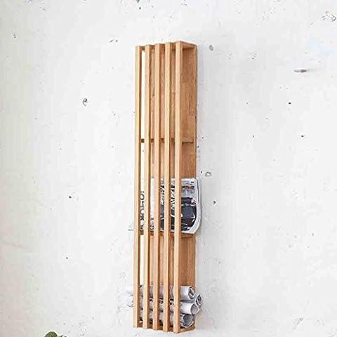 Creativo europeo Estilo Fácil sólido estante de madera de roble Revista Wall Cuelgue