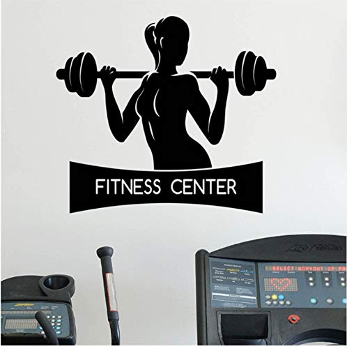 Lsfhb Weibliche Fitness Wandaufkleber Gesunder Lebensstil Gym Sport Vinyl Aufkleber HomeWandkunstdekor Ideen Innenarchitektur58X53 ()