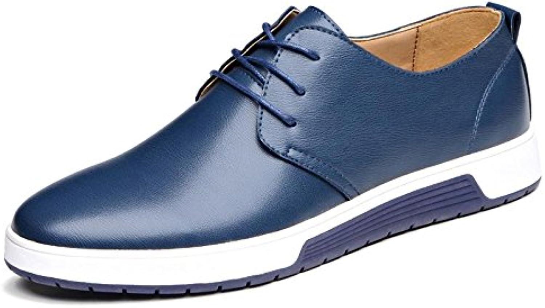 Herren Mode Das neue Licht Freizeit Lederschuhe Laufschuhe Flache Schuhe Trainer Gemuumltlich Große Größe Rutschfest