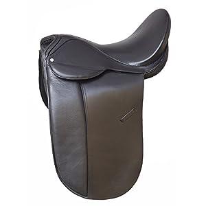 Riding Dressursattel Basic Harmony schwarz 18″ weit 34 cm