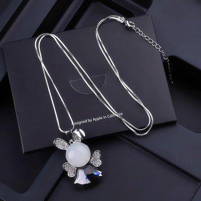 Pullover Kette Halskette weiblichen kurze Kristall Anhänger Anhänger Zubehör, Cat's-eye Bunny