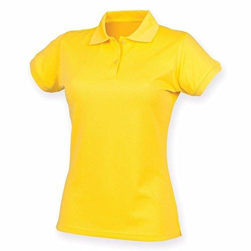 Henbury Damen Modern Poloshirt Gelb
