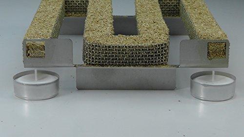 Jaeger-Spar-Brand aus Edelstahl V2A, bis 20 Std. Kaltrauch, Kaltraucherzeuger, Cold Smoke Generator, Food Smoker, Meat Smoker, für Grills, BBQ, Räucheröfen, **Made in Germany **