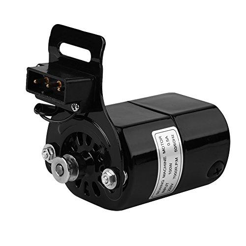 220 V 100 Watt Home Nähmaschine Motor Nähmaschine Teile 7000 RPM K-Hanger 0,5 AMP (Schwarz) -