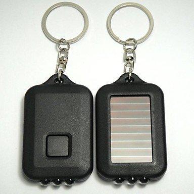 Mini Solar 3 LED-Leuchten Solar-Farbe Nachttischlampe Taschenlampe Solar-Taschenlampe Wiederaufladbare f¨¹r Camping Klettern , Gr¨¹n