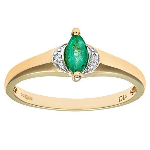 Naava Damen-Ring 9 Karat (375) Gelbgold Gr. 54 (17.2)  Diamanten PR07722BTN