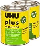 UHU Plus Endfest 300 1x Dose Binder 915g + 1x Dose Härter 740g 2-K-Epoxidharzklebstoff