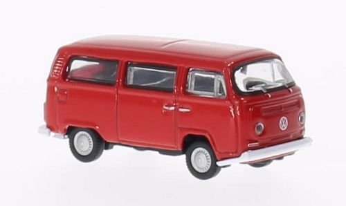 VW T2 Bus, rot, 1972, Modellauto, Fertigmodell, Welly 1:87 - T2 Pick