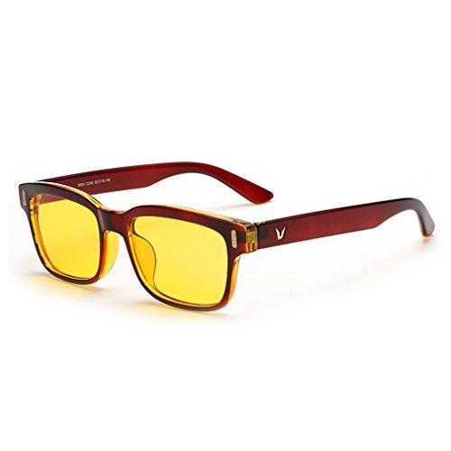 rnow amarillo teñido gafas de ordenador gafas de sol la fatiga ocular