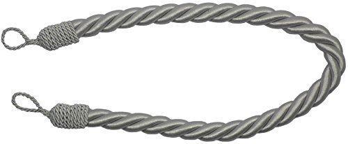 2 x Zugbänder Für Vorhänge Silberfarben Dickes Seil Satin Drapiert - 81 cm (Vorhang Zugbänder Silber)