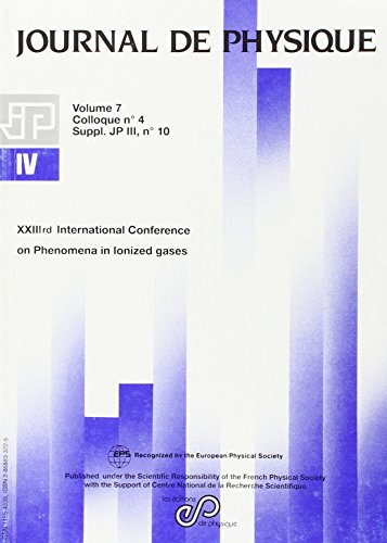 Journal de physique, Volume 7 : International Conference on Phenomena in Ionized Gases