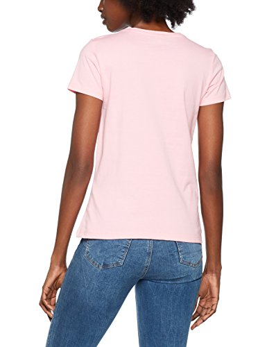 ONLY Damen T-Shirt Onlriva SS Tee NOOS Rosa (Prism Pink Print:Need W/Bright White)
