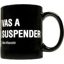 Miss Miserable - Taza mug existencialista: ''vas a suspender''