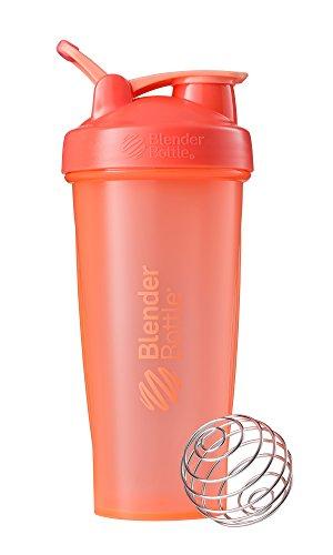 BlenderBottle Classic Loop Shaker | Botella de Agua | Botella mezcladora de Batidos de proteínas | Blenderball | Tritan | 820ml - Full Color Coral