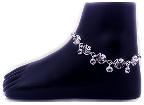 96dad45bf01 Pure Sterling Silver Fancy Designer Payal Anklet Pair For Girls- Set Of 2