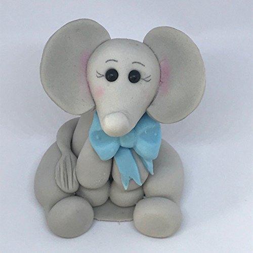 essbar Elefant mit Fliege, Geburtstag, Taufe, Baby Dusche Kuchen Topper. (Essbare Cake Topper Taufe)