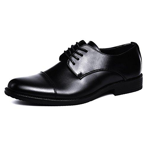 AERZ Herren Freizeit Schuhe aus Leder Business Anzugschuhe für Tägliche Abnutzung Party Hochzeit (43 EU, Schwarz)