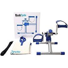 BookCycle Pedales Ejercicio Estaticos Mini Bicicleta Estatica Brazos y piernas(Azul)