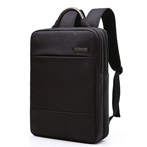 Zaino del computer portatile di affari 15.6 pollici Slim zaini del calcolatore zainhi per gli uomini sacchetto zaino della scatola della cartella delle donne (Nero) Nero