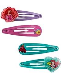 """SIX KIDS Set mit 4 Disney Ariel Haarspangen, Haarclips """"Ariel die Meerjungfrau"""" (304-467)"""