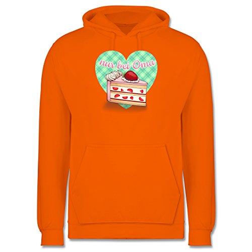 Statement Shirts - Nur bei Oma - Kuchen - Männer Premium Kapuzenpullover / Hoodie Orange