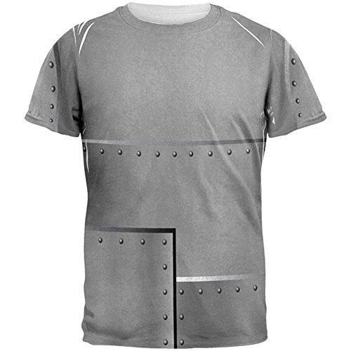 Halloween-Roboter Nieten Kostüm Stahl aller Herren T Shirt Multi X-LG