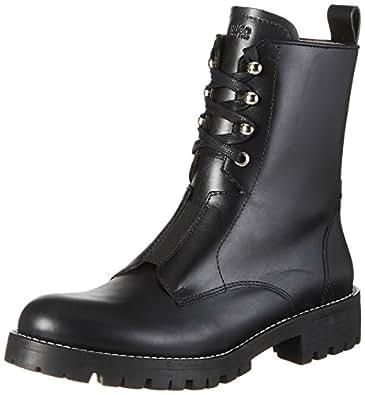 HUGO Mai 10199300 01, Stivali Combat Donna, Nero (Black), 36 EU