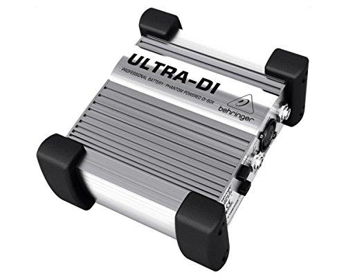 BEHRINGER DI100 DIRECT BOX ULTRA DI-BOX ATTIVA A BATTERIA O ALIMENTAZIONE PHANTOM POWER +48 VOLT