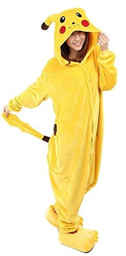 Très Chic Mailanda Costume de carnaval/cosplay en peluche avec capuche Unisexe/adulte Pikachu -  - Taille L