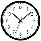 Wanduhr Wohnzimmer Moderne Minimalistische Atmosphärische Uhren Hause Runde Persönlichkeit Kreative Mode Schlafzimmer Uhr Dekoration (Farbe : SCHWARZ, größe : 14 inches)