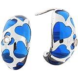 Angelique de Paris Blue Coquette Silver Earrings with Topaz