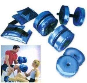 set poids haltère à eau musculation sport muscle