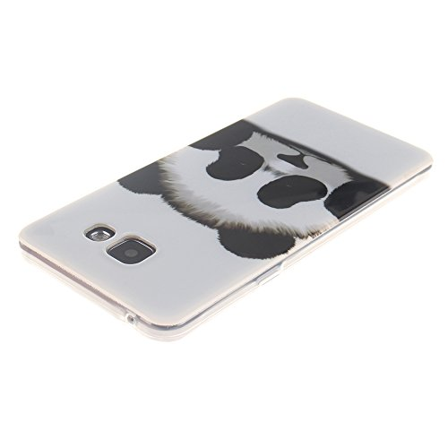 Samsung Galaxy A3(2016) A310 hülle MCHSHOP Ultra Slim Skin Gel TPU hülle weiche Silicone Silikon Schutzhülle Case für Samsung Galaxy A3(2016) A310 - 1 Kostenlose Stylus (Black Lion) Lovely Panda
