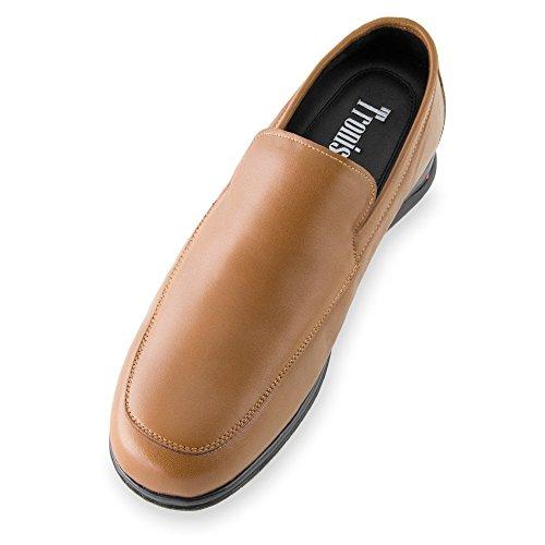 Masaltos - Chaussures rehaussantes pour homme. Jusqu'à 7 cm plus grand! Modèle Flex Nature A Brun
