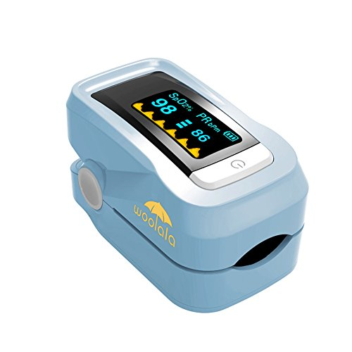 Woolala Fingertip Pulse Oximeter Adult & Pediatric Accurate Oximetry Blood Oxygen Saturation SpO2 Sports Monitor with Rotatable OLED Display